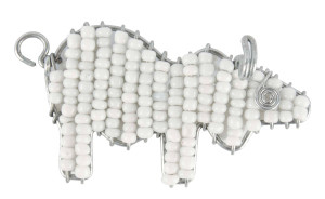 Beaded buffalo keyring