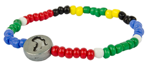 World S First Beaded Rainbow Nation Bracelet