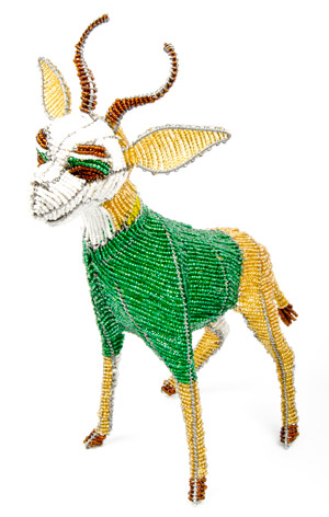 Springbok Rugby Beaded Bokkie Small 1
