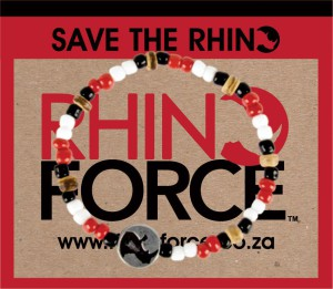 From the sale of RHINO FORCE bracelets, R20,000 was donated to Wilderness Wildlife Trust